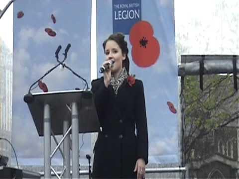 Sarah Lark sings The Rose at Swansea Remembrance Service