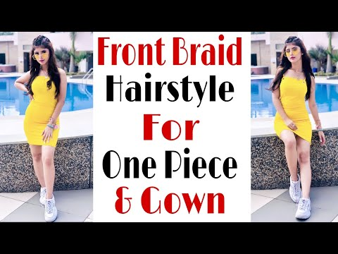 front-braid-hairstyle-for-short-gown-|-arishfa-khan-hairstyle-|-hair-style-girl-|-trendy-hairstyle