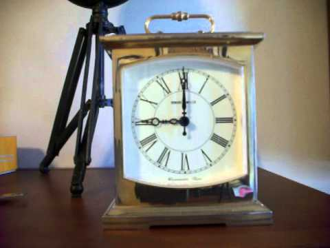 Small Howard Miller Westminster Chime Desk Clock
