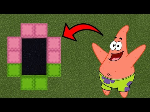 How To Make a Portal to the Patrick Star Dimension in Minecraft (Pocket Edition)