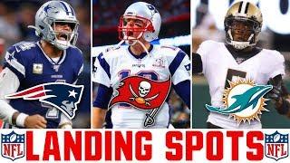 NFL Free Agent Quarterbacks & Landing Spots (2020 NFL Free Agency Predictions)