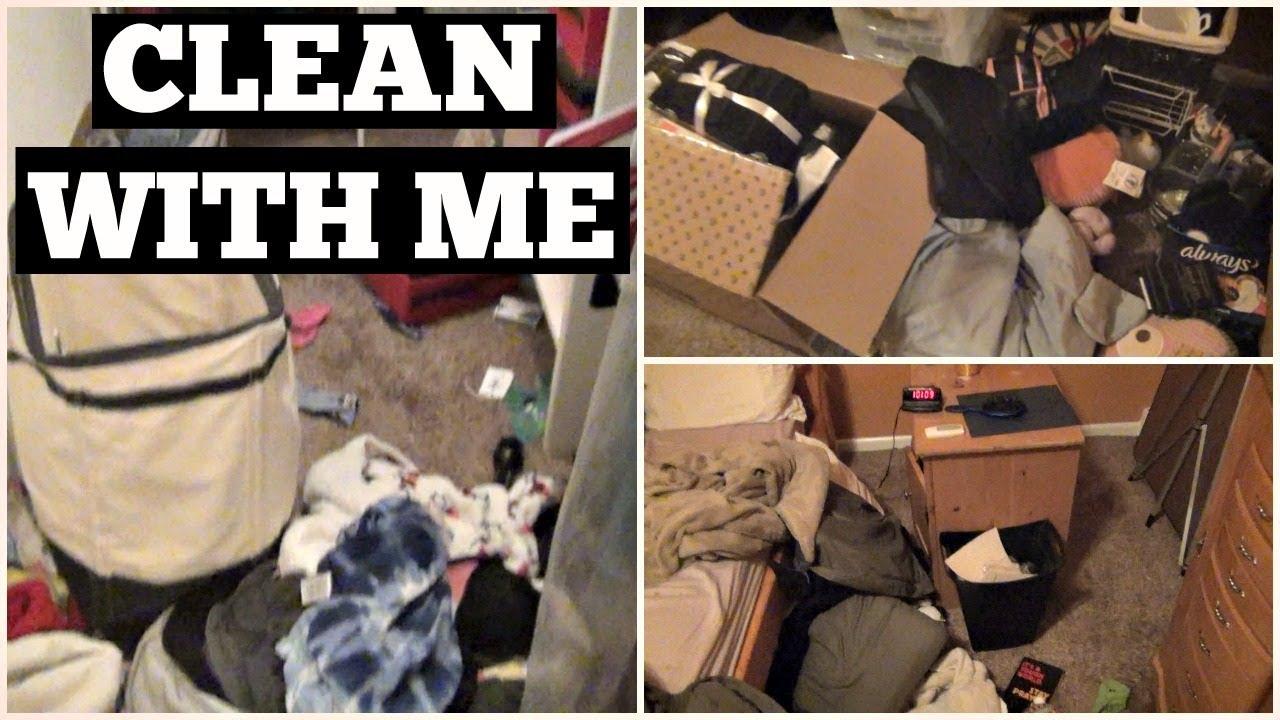 Ultimate Power Hour Clean With Me Messy Bedroom Clean With Me