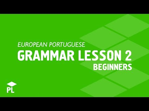 The basic European Portuguese structures for beginners II - pronouns