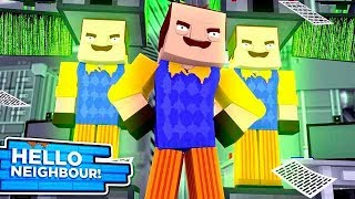 Minecraft Hello Neighbour - THE NEIGHBOUR IS MAKING CLONES OF HIMSELF!!