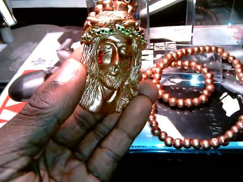 Rose Gold Wooden Jesus Piece