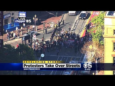 Police Brutality Protesters Block Bay Area Streets