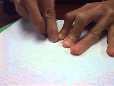Creating a paper craftwork with the braille embosser
