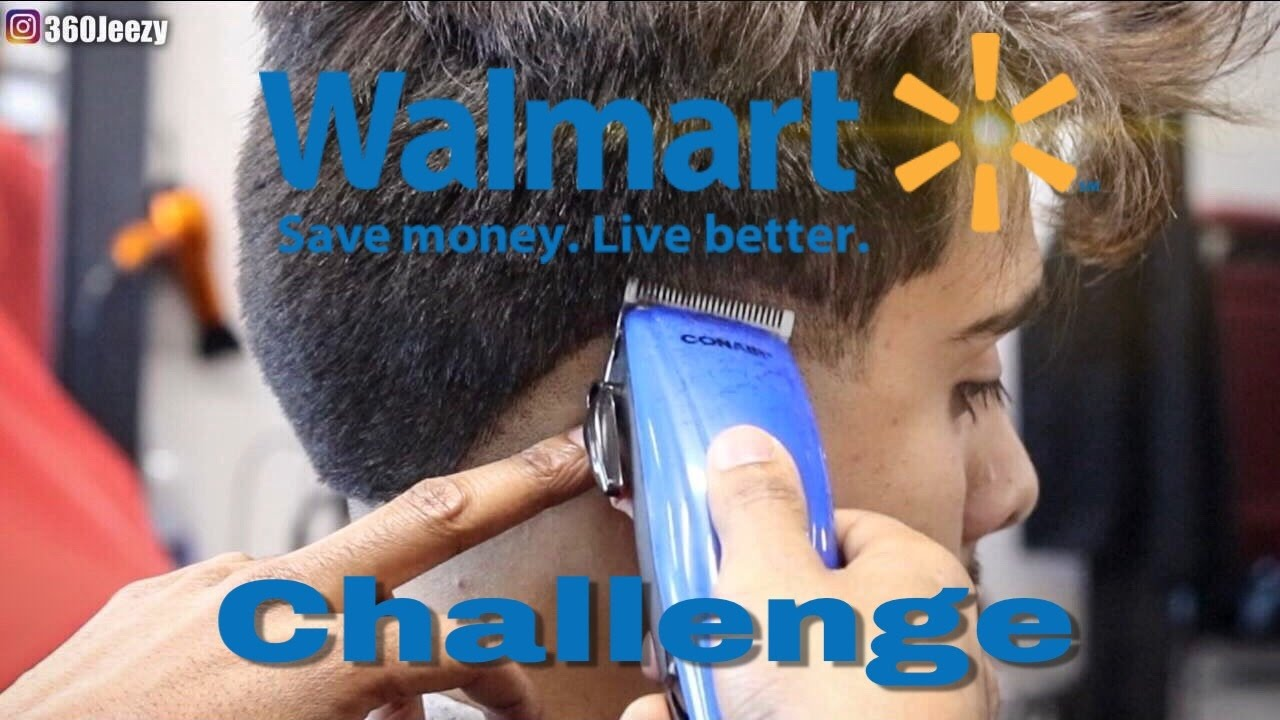 WALMART CHALLENGE: How To Cut Hair With Conair Clippers