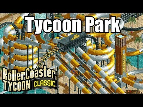 Roller Coaster Tycoon Classic - Tycoon Park (Title Screen Park!)