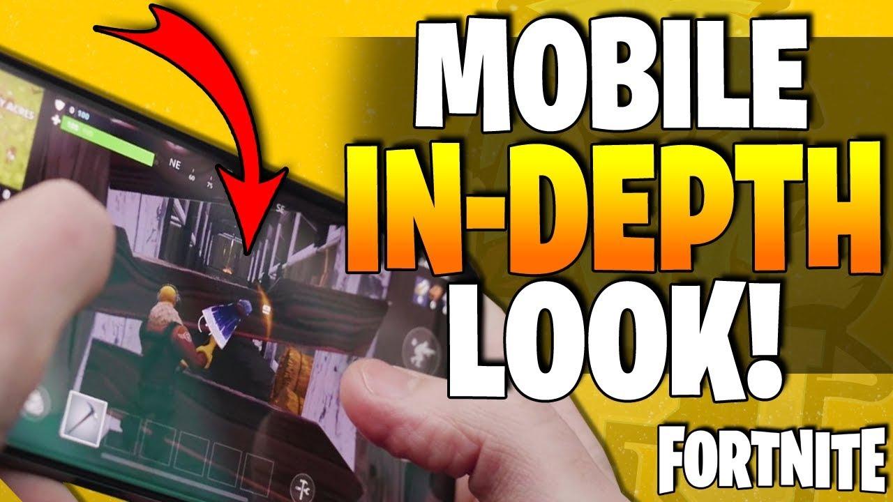 FORTNITE For Mobile Phones - Control Scheme & HUD Layout