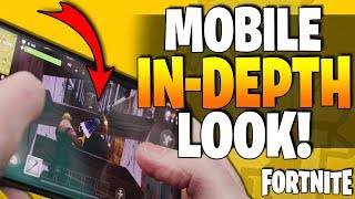 FORTNITE For Mobile Phones - Control Scheme & HUD Layout - An In-Depth Look At BATTLE ROYALE IOS