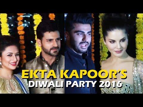 Ekta Kapoor's GRAND Diwali Party 2016 | Arjun Kapoor, Sunny Leone, Divyanka Tripathi, Vidya Balan