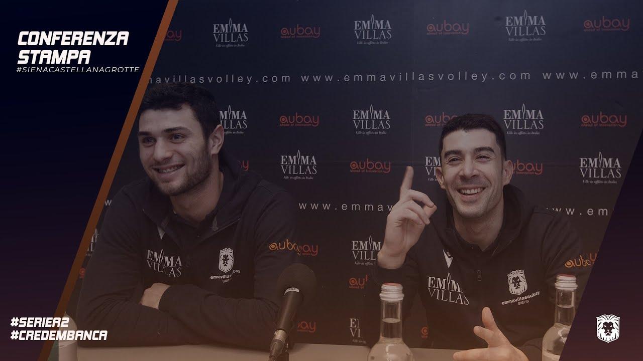 EMMA VILLAS AUBAY SIENA | Conferenza Stampa pre match #CastellanaGrotteSiena