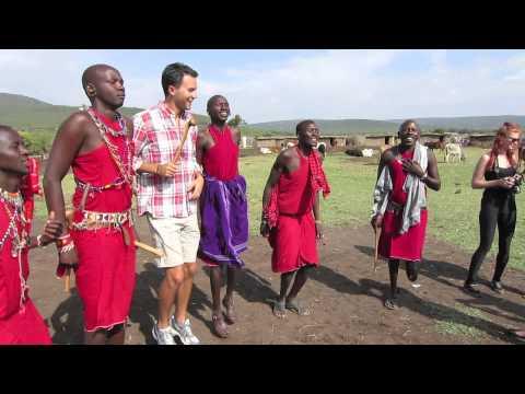 Visiting a traditional village in Masai Mara
