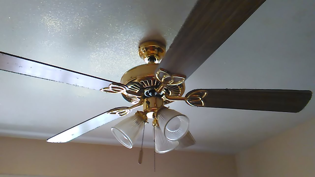 52 polished brass encon vintage ceiling fan 2 of 2 youtube aloadofball Gallery