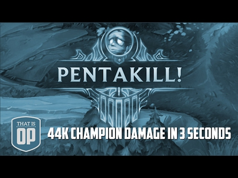 44000 Champion Damage in 3 Seconds - BIGGEST DAMAGE OUTPUT OF ALL TIME - LoL World Records