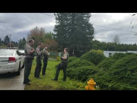 Clackamas county sheriff deputy see cop watchers