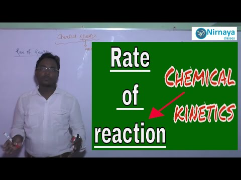 what is kinetics? I rate of reaction I CHEMISTRY LESSONS I learn chemistry online