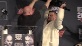 Conor McGregor & Eddie Alvarez Go Ballistic Over Chair Throwing Threat at UFC 205 Press Conference