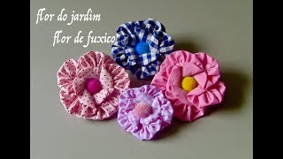 Transforme FUXICOS em lindas flores – DIY- flower fabric