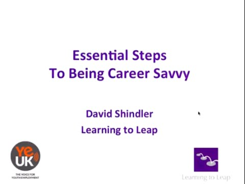Being 'Career Savvy' with David Shindler | Webinar | Youth Employment UK