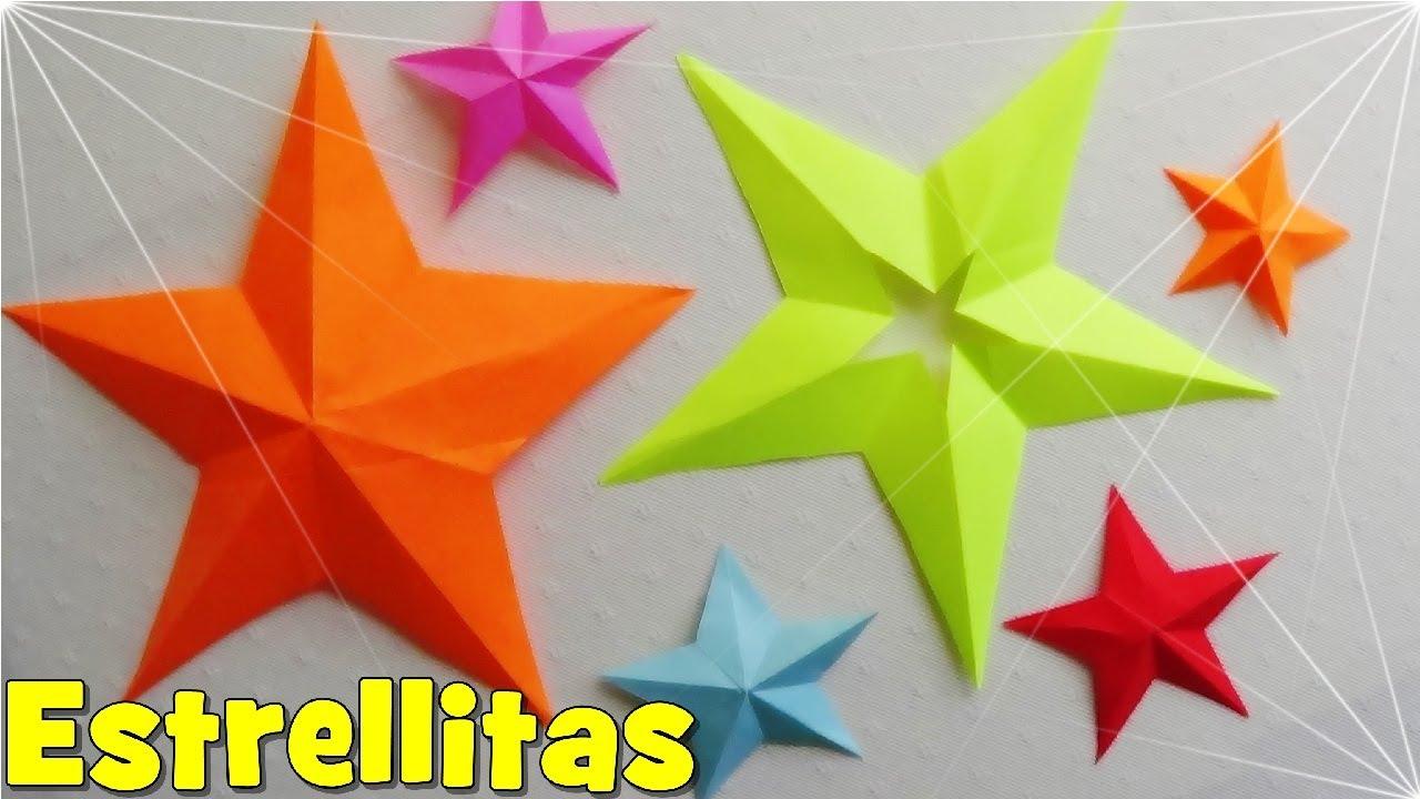 C mo hacer una estrella de papel de 5 puntas youtube - Como hacer un arbol de papel grande ...