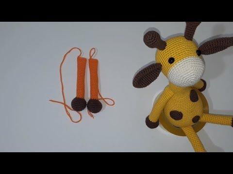 Amigurumi Sarı Zürafa - 2. BÖLÜM - Kafa, Ayak ve Kulak Yapımı ... | 360x480