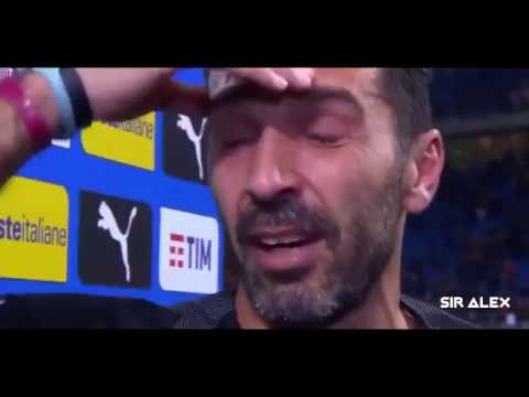 Gianluigi Buffon Crying after Elimination vs Sweden | World Cup 2018 Russia