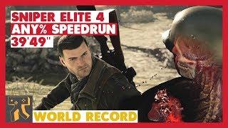 "Sniper Elite 4 - Any% Speedrun - 39'49"" [World Record]"