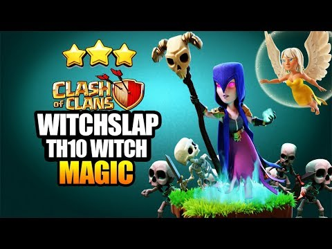 TH10 Bowler Witch Slap - Clash of Clans - Frozen Witch - Best Witch Slap 4 healer & 2 healer