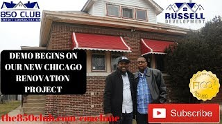 🏚️ Demo Day 1 🏡 Flipping Home In Chicago Using Hard Money Loan - Real Estate Investing