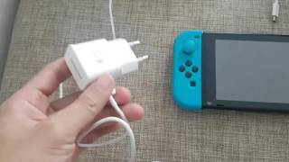 Testing charge&play Nintendo Switch with Samsung Fast Charging Adapter