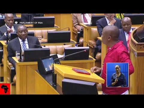 Julius Malema Telling Ramaphosa He Is 'A Shrewd Business Man'