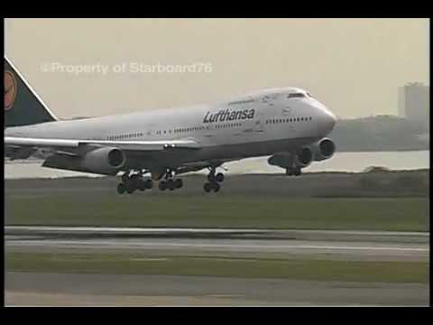 Air Gabon 747-200 & Lufthansa 747-200 arrive at Kennedy JFK