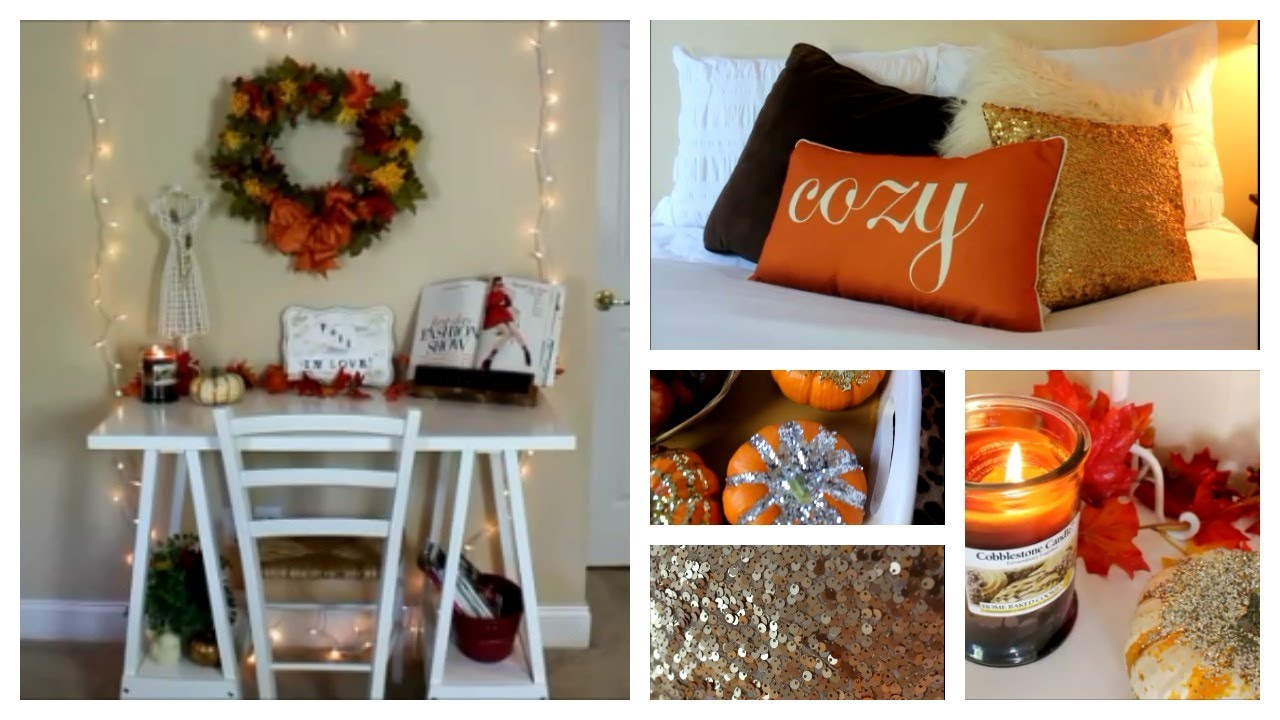 Fall room decor ideas and inspiration youtube for Art decoration ideas for room