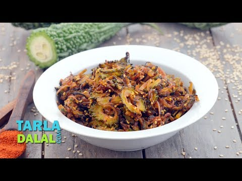 Onion and Karela Subzi by Tarla Dalal