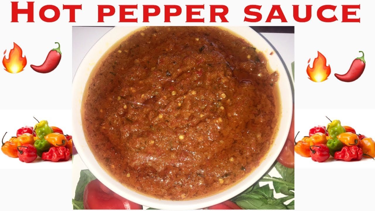 African Pepper Sauce. (Extremely Hot And Spicy) Recipe |Cameroonian food|