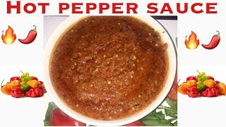 African Pepper Sauce. (Extremely Hot And Spicy) Recipe