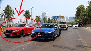 Salman Khan's RED AUDI RS7 | Supercars in Mumbai | India | Petrolhead's Paradise