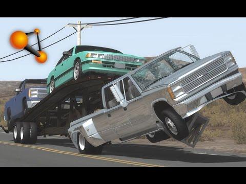 BeamNG.Drive Mod : Gavril Trailer Stepside etc (Crash test)