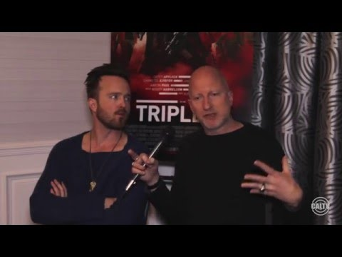 "CalTVE: Aaron Paul and John Hillcoat interview for their new film ""Triple 9"""