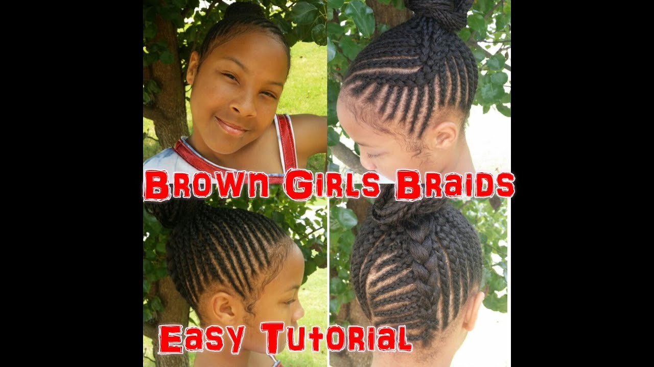 Natural Girls Braids Easy Tutorial Youtube