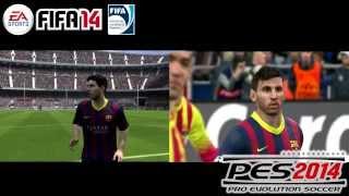 FIFA 14 vs PES 2014 - Lionel Messi - Pc/Xbox360/Ps3 - HD