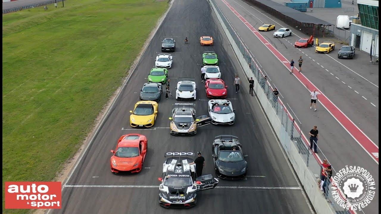 Lamborghini Drag Race! Aventador SVJ vs Urus vs Huracan ...