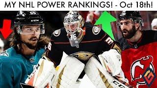 NHL POWER RANKINGS! (October 18 2018)