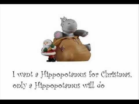 I Want A Hippopotamus For Christmas Lyrics.Shirley Temple I Want A Hippopotamus For Christmas With Lyrics