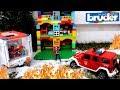 Распаковка игрушек Bruder Пожарный джип 02528 Брудер Видео про машинки mp3