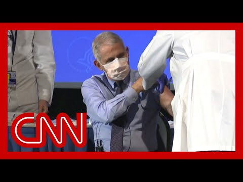 See what Dr. Fauci had to say right before receiving vaccine