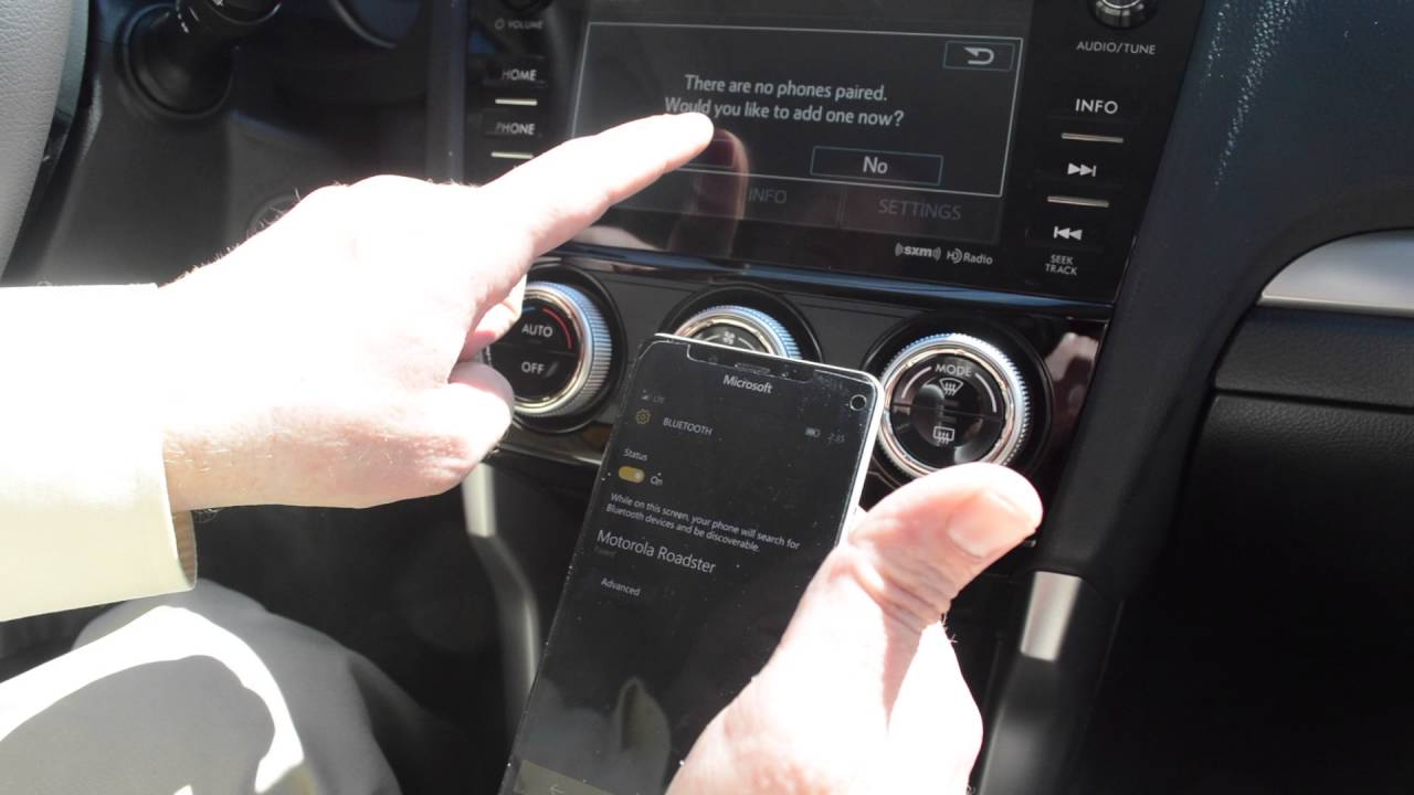 How to sync your phone's bluetooth with your 2016 Subaru