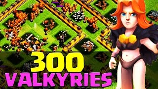 300 x Level 5 VALKYRIE Troop Attack EPIC RAIDS!! | Dev Build | Clash of Clans